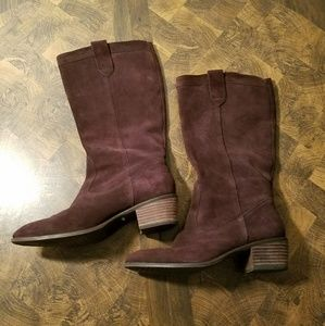Brown Suede Leather Banana Republic Cowboy Boots